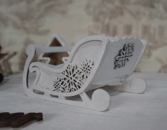 Christmas Sleigh Decoration Laser Cut CDR File