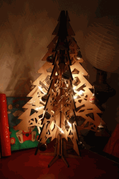 Christmas Tree 3D Laser Cut CDR File