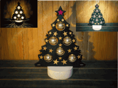 Christmas Tree Lamp Laser Cut CDR File