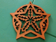 Christmas Tree Ornament CNC Laser Cut Free CDR File