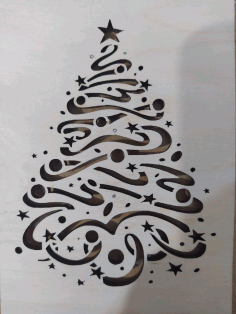 Christmas Tree Pattern Laser Cut CDR File