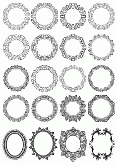 Circle Floral Borders Free CDR Vectors File