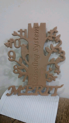 Clock Tree Design Laser Cut CNC Laser Cut Free DXF File