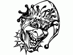 Clown Design 01 bw Free Download DXF File