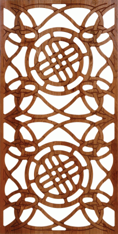 CNC File Wood Door Design For Laser Cut Pattern 300-v73 Free Download Vector DXF File
