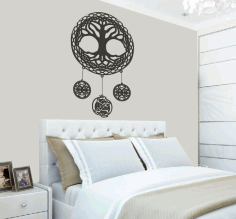 CNC Laser Cut Celtic Tree of Life Wall Art Room Decor Free CDR File