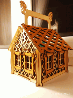 CNC Laser Cut Christmas Candy House Free CDR File