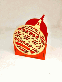 CNC Laser Cut Christmas Ornament Shape Organizer Vector CDR File