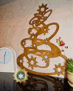 CNC Laser Cut Christmas Tree Decorations Wooden Free CDR File