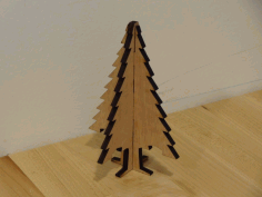 CNC Laser Cut Christmas Tree Ornament Plywood Free DXF File