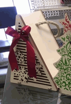 CNC Laser Cut Christmas Tree Packaging for Gift Free CDR File