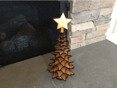 CNC Laser Cut Christmas Tree Template Free DXF File