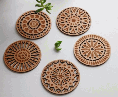 CNC Laser Cut coasters CDR File