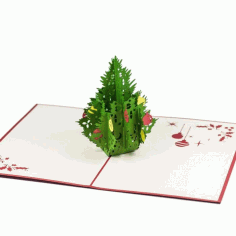 CNC Laser Cut Decorative Christmas Tree Free CDR File