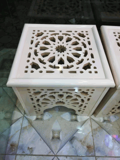 CNC Laser Cut Decorative Stool Side Table Free CDR File