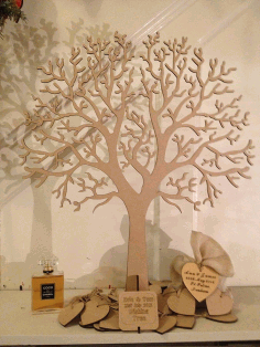 CNC Laser Cut Design Tree and Heart CDR File