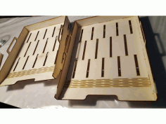 CNC Laser Cut Design Wooden File Tray DXF File
