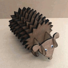 CNC Laser Cut Hedgehog Coasters With Holder CDR File