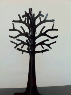 CNC Laser Cut Jewelry Tree 3mm Free DXF File
