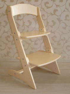 CNC Laser Cut Kids Furniture High Chair Growing Chair Free CDR File