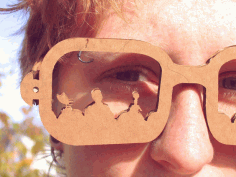 CNC Laser Cut MST3K Shades Free DXF File