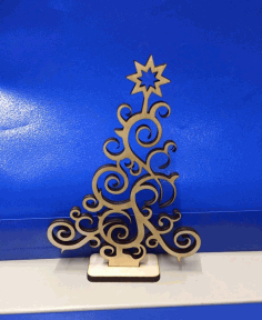 CNC Laser Cut Plywood Christmas Tree 3mm Free CDR File