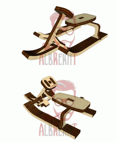 CNC Laser Cut Sled Carriage Vector CDR File