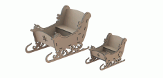 CNC Laser Cut sleigh Vector DXF File