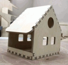CNC Laser Cut Small House Assembly Model CDR File