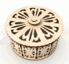 cnc Laser Cut small round Box DXF File