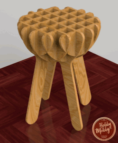 CNC Laser Cut Stool Free DXF File
