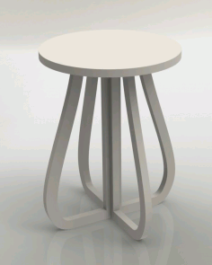 CNC Laser Cut Stool Furniture Plans Free DXF File