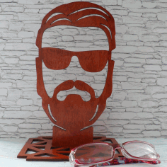 CNC Laser Cut Sunglasses Display Stand Free CDR File