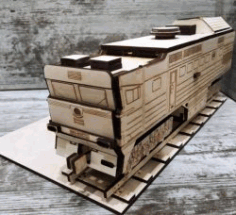 CNC Laser Cut Train Model CDR File
