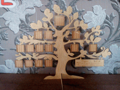 CNC Laser Cut Tree Family Frame Free CDR File