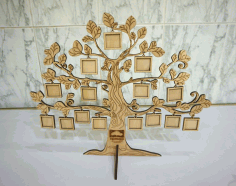 CNC Laser Cut Tree Photo Frame Template Free CDR File