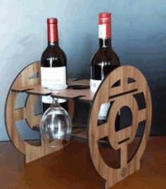 CNC Laser Cut Wine Holder CDR File