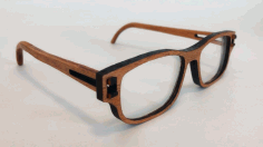 CNC Laser Cut Wooden Glasses Free DXF File