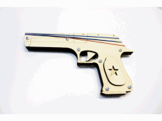 CNC Rubber Band Gun Laser Cut DXF File