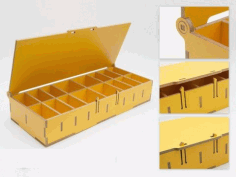 Compartment Storage CNC Laser Cutting Free CDR File