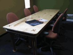 Conference Room Table 10x4ft Laser Cut DXF File