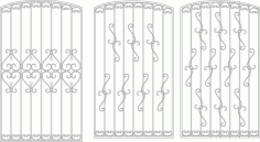 Contemporary Window Grill Design For Home Laser Cut CDR File