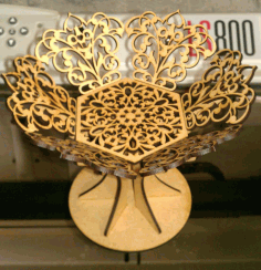 Coupe 3mm Storage Basket Laser Cut DXF File