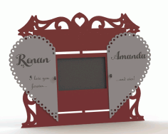 Couple Photo frame Laser Cut DXF File