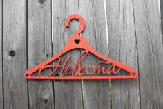 Custom Name Hanger Laser Cut Free DXF File