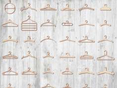Custom Wooden Clothing Hangers Templates Free Vector CDR File