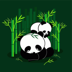 Cute Panda Free CDR Vectors File