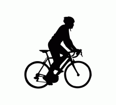 Cycle Silhouette Vector Free CDR Vectors File