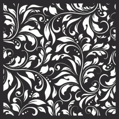 Damask Floral Vector Seamless Pattern Laser Cut Free CDR File