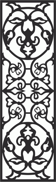 Damask Seamless Floral Pattern Laser Cut Free CDR File